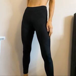 Champion Black Mid Rise Ribbed Fitness Leggings